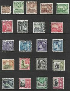 MALTA SG217-31 THE 1938-43 GVI SET OF 21  SUPERB MNH CAT £75