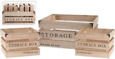 Kistenset Holz 3 tlg Dekoration Vintage Design Weinkiste Allzweckkiste Truhe Box
