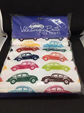 10 for Official Licensed Retro Volkswagen VW Beetle Multi Coloured Tea Towel