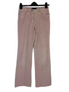 Womens Boden casual Pink Corduroy Bootcut Trousers w/Pockets, UK Size 10 EXC CON