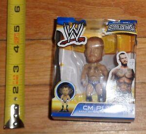 2014 WWF WWE CM Punk Wrestling Mini Bobble Head Bobblestars ROH Ring of Honor