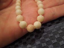 """Vintage Angel Skin Coral Necklace 18"""" 14K Clasp"""