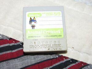 2002 Animal Crossing Nintendo GAMECUBE Game Cartridge Memory Card 59!
