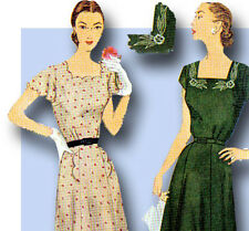 1950s Vintage Simplicity Sewing Pattern 3553 Misses Embroidered Dress Size 36 B