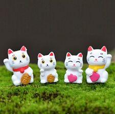 FD4708 □ Lucky Cat Miniature Dollhouse Garden Craft Fairy Bonsai Plant Decor 1pc
