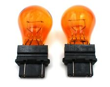 2x OEM Sylvania OSRAM 3457 3457A 3754AK Amber Turn Signal Corner Bulb Germany