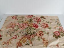 Ralph Lauren Home Sussex Gardens Peach Floral Cotton Sateen Standard Pillowcase