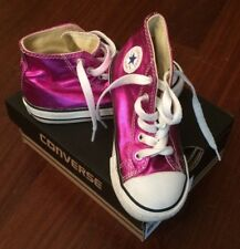 Converse All Stars Tg. 24 alte scarpe sneaker fucsia bimba girl fun fashion