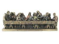 Letzte Abendmahl Last Supper bronzierte Figur 23 cm Veronese