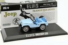 Jeep CJ5 Baujahr 1963 Elvis blau 1:43 Greenlight