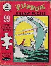 "Vintage Flipper Big Little Book 99 piece 10"" x 13"" jigsaw puzzle Whitman 1967"