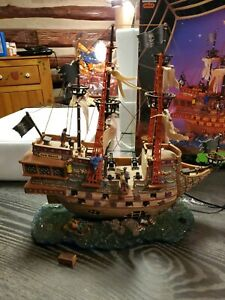 Retired lemax spooky town Haunted Galleon