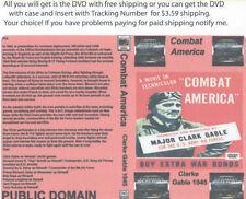 Combat America 1943 DVD  Documentary film Clark Gable Bob Hope,