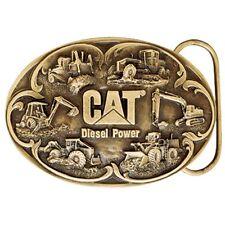 Caterpillar CAT Equipment Diesel Power Brass Finish Belt Buckle
