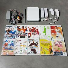 Nintendo Wii Konsole #weiß mit Zubehörpaket + 3 Gratis Spiele + 2 Controller