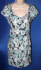 Print Dress Tunic Puff Sleeves Size 10 Back Multi by F&F