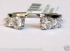 1/4 Ct Wrap Guard Solitaire Enhancer Diamonds 14k White Gold Ring