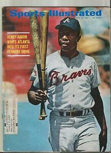 Hank Aaron Braves 8/18/69 Sports Illustrated magazine HOF & Home Run King FC