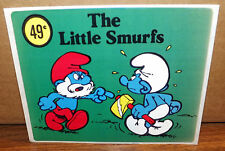 "Vintage 1980s Smurf ""The Little Smurfs"" Sticker Cartoon Vending 5.5"" x 4.5"" New"