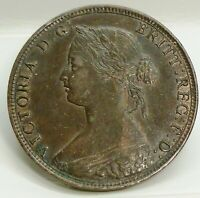 1863 LARGE 3 Great Britain 1/2 Penny KM# 748.2