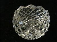 Glas Kerzenhalter Bohemia Glass - Tschechien - Böhmen - um 1970 - mit Etikett