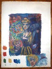Goerg huile sur papier expressionnisme surréalisme salon d'automne