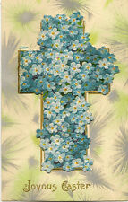 EASTER :' Joyous Easter' - embossed 'pull-out'-Cross and Flowerts-WILDT & KRAY