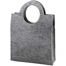 Plain Gris De Fieltro Artesanales Tote Bag-Decorar de almacenamiento de coser-señoras Bolso