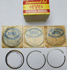 Piston Ring Set Triumph TR2 TR3 TR3A w/Big Bore - DEVES -  Made in Sweden