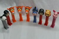 Lot of 9 Feet Vintage Pez Winnie The Pooh Nice all in fair to good condition