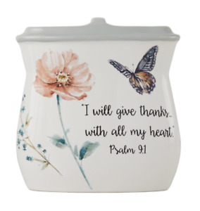 Inspire Toothbrush Holder Bathroom Countertop Bible Scripture Butterfly Christ