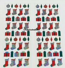 86 CHRISTMAS STICKERS-STOCKINGS/PRESENTS-HOLOGRAPHIC-BAUBLE-SPARKLE-XMAS-FUN