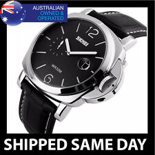 WATER RESISTANT MILITARY DRESS WATCH Army Mens Silver Divers Gold Waterproof D2