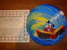 DISNEY MICKEY MOUSE SORCERERS APPRENTICE PLATE-MICKEYS MAGICAL WHIRLPOOL