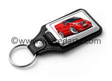 WickedKarz Cartoon Car Vauxhall Vivaro Van in Red Key Ring