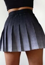 American Apparel Navy Blue White Dot Ombré Pleated Gabardine Tennis Skirt XS NWT