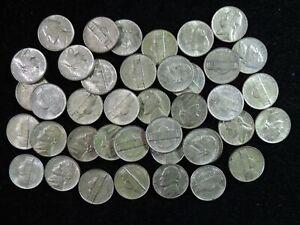 Roll of 1943 P AU/BU Uncirculated Silver Jefferson Wartime War Nickels