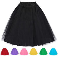 Plus Size Vintage Style Womens Petticoat Underskirt Tulle Layered Tutu Skirts