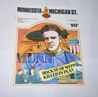 1972 MINNESOTA GOPHERS v Michigan State SPARTANS football program BIGGIE MUNN !