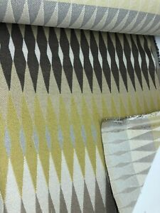3.9 metres mustard, brown and beige upholstery fabric