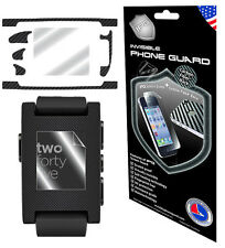 IPG Pebble SmartWatch E-Paper BLACK CARBON FULL BODY + SCREEN Cover Protector