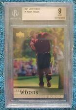 2001 Upper Deck Tiger Woods RC #1 BGS 9 Rookie Clean Case