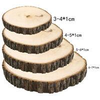 50 Pcs Rustic Wedding Wood Tree Slices DIY Decor Disc Pine Tree Log Round G K0I5