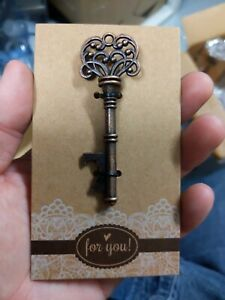 Vintage Skeleton Key Wine Bottle Openers Wedding Party Favor Gift Barware Tool