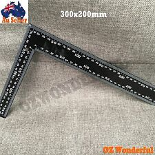 300x200mm Angle Square Measuring Triangle L Shaped Design Ruler Stainless Steel