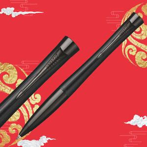 Parker Urban Series Black Grid Black Clip Medium 0.7 Nib Ballpoint Pen Gift Box