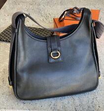 HERMES Tsako 30 Black Clemence Shoulder Bag leather sac tote vintage