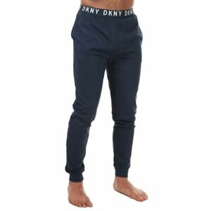 Men's DKNY Eagles Elastic Ankle Cotton Lounge Pant in Blue
