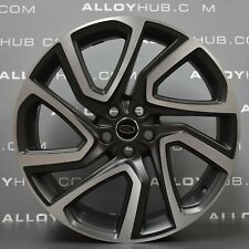 """GENUINE LAND ROVER DISCOVERY 5 STYLE 5025 22"""" INCH GREY/POLISHED ALLOY WHEELS X4"""