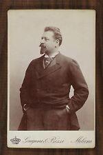 Francesco Tamagno, Ténor Opéra Singer Photo Cabinet card Guigoni & Bossi Milano